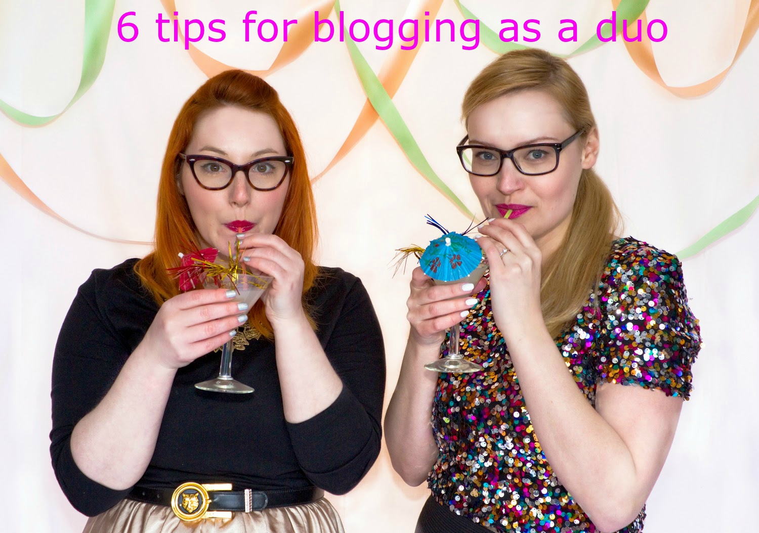 Wardrobe Conversations, blogging duo, blogging tips, award winning, scottish bloggers, cocktails, sequins, party dresses, how to, fashion stylist