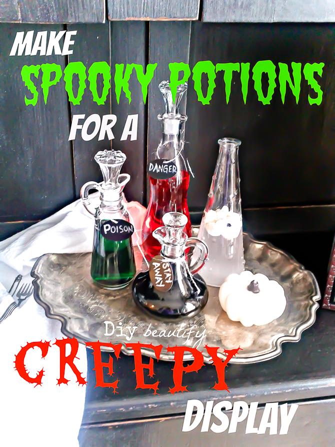spooky potions diy