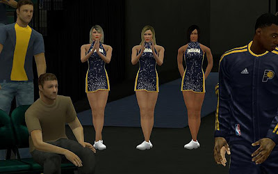 NBA 2K13 Indiana Pacers Cheerleaders Mod