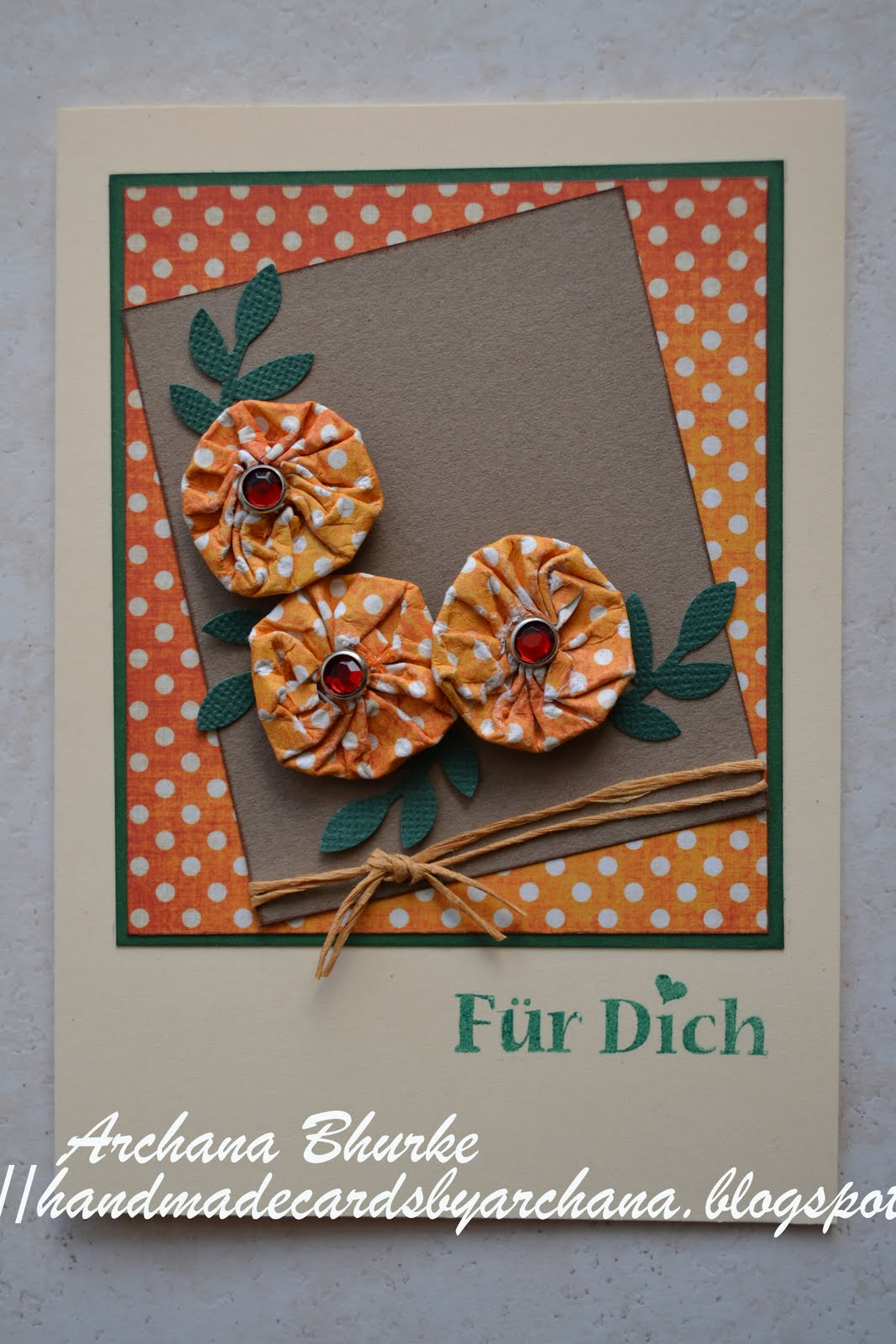 Handmade Cards By Archana Design Paper Flowers