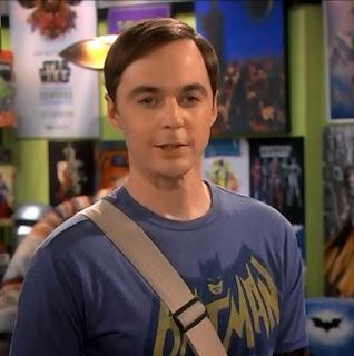 Screencap of Sheldon standing in the comic book store.