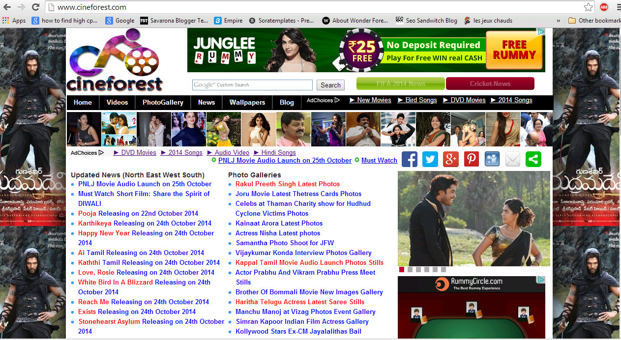 Success story of Cineforest.com site tollywood entertainment blog with Google Adsense