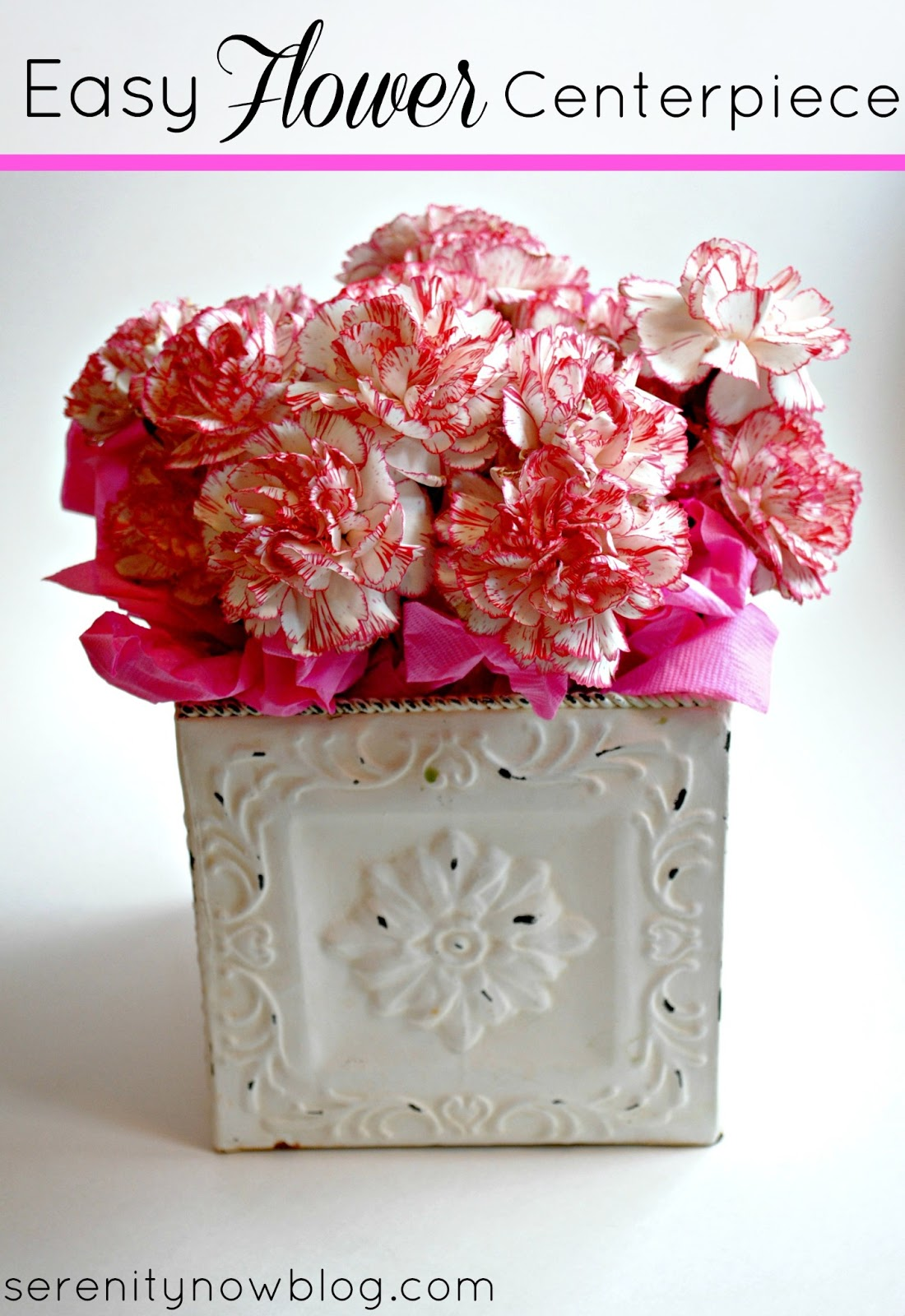 Serenity now fast and easy flower centerpiece
