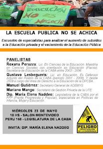 Debatimos Subsidios a la Educación Privada en la Legislatura 23/5 Peru 160 18 hs.