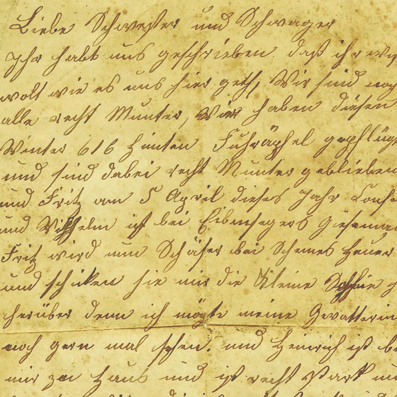 Free 12x12 Inch Vintage Handwriting Printable