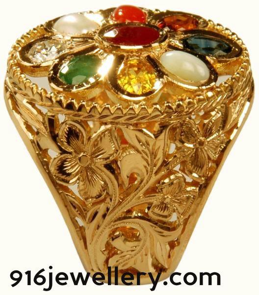 916 jewellery Rings navaratna gold rings designs