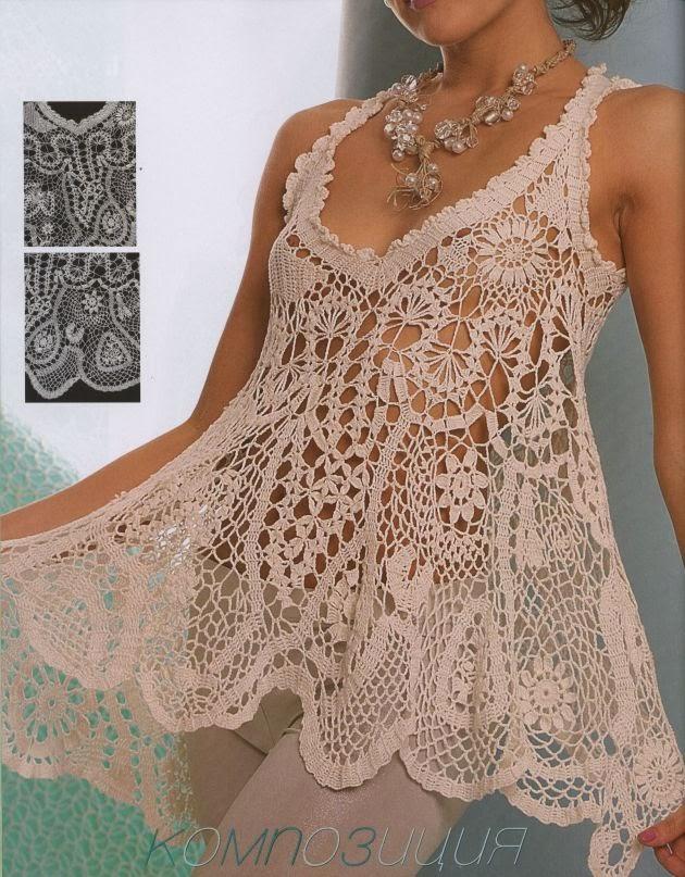 Hermosa Musculosa A Crochet | Patrones Crochet, Manualidades y Reciclado