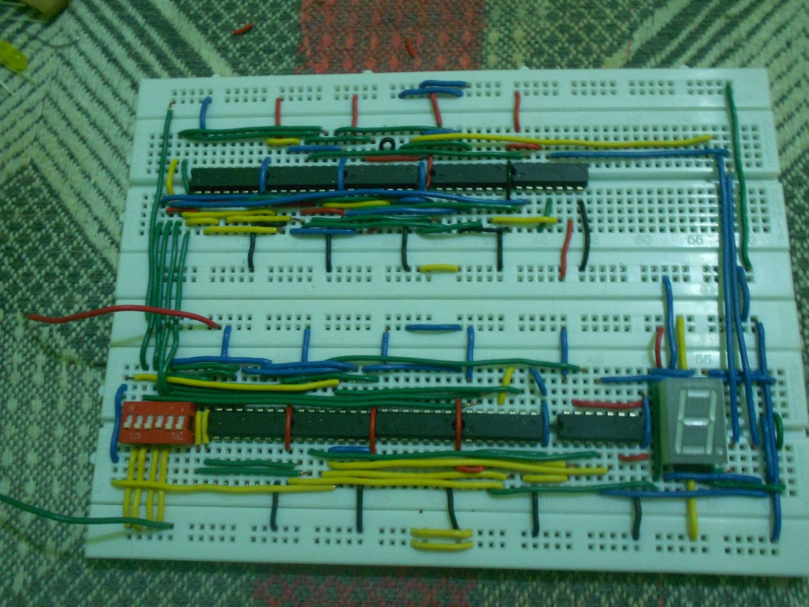Ece Logic Circuit 2012 Bistable Schematicjpg Finally Here Is The Final Output After Implementing Our Schematic Diagram Into Breadboard