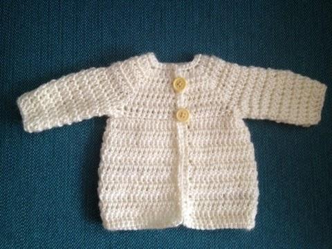 hæklet babytrøje opskrift