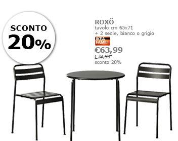 Arredo a modo mio torsby tobias e roxo i tavoli con for Ikea schlafsofa 79 euro