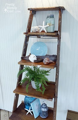 Dishfunctional designs old ladders repurposed as home decor - How to decorate old house ...