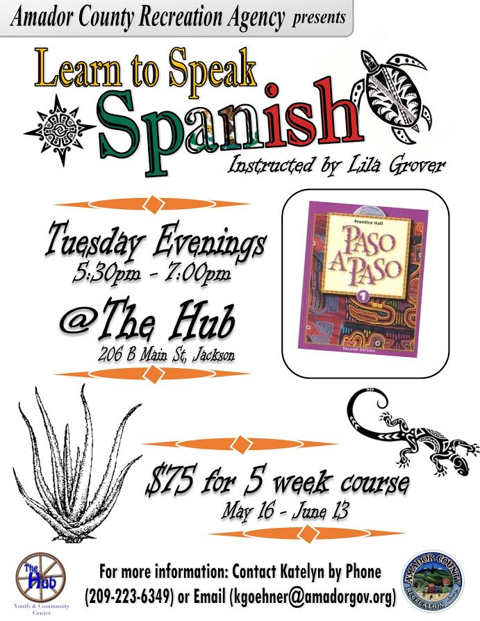Drop-in Learn to Speak Spanish - May-June 2017
