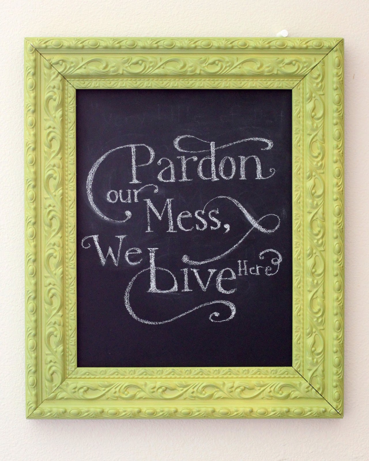 creatively christy diy chalkboard decor - Diy Chalkboard Frame