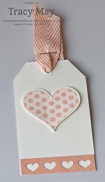 stampin up uk independent demonstrator Tracy May groovy love tag gift ideas
