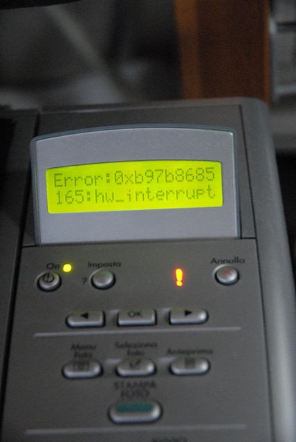 printer error to fix
