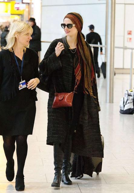 Eva Green at Heathrow Airport in London