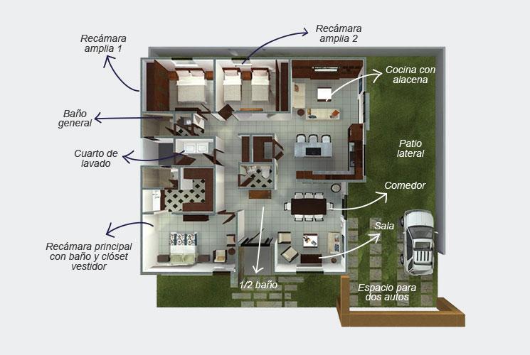 Planos de casas y plantas arquitect nicas de casas y for Oficinas planta arquitectonica