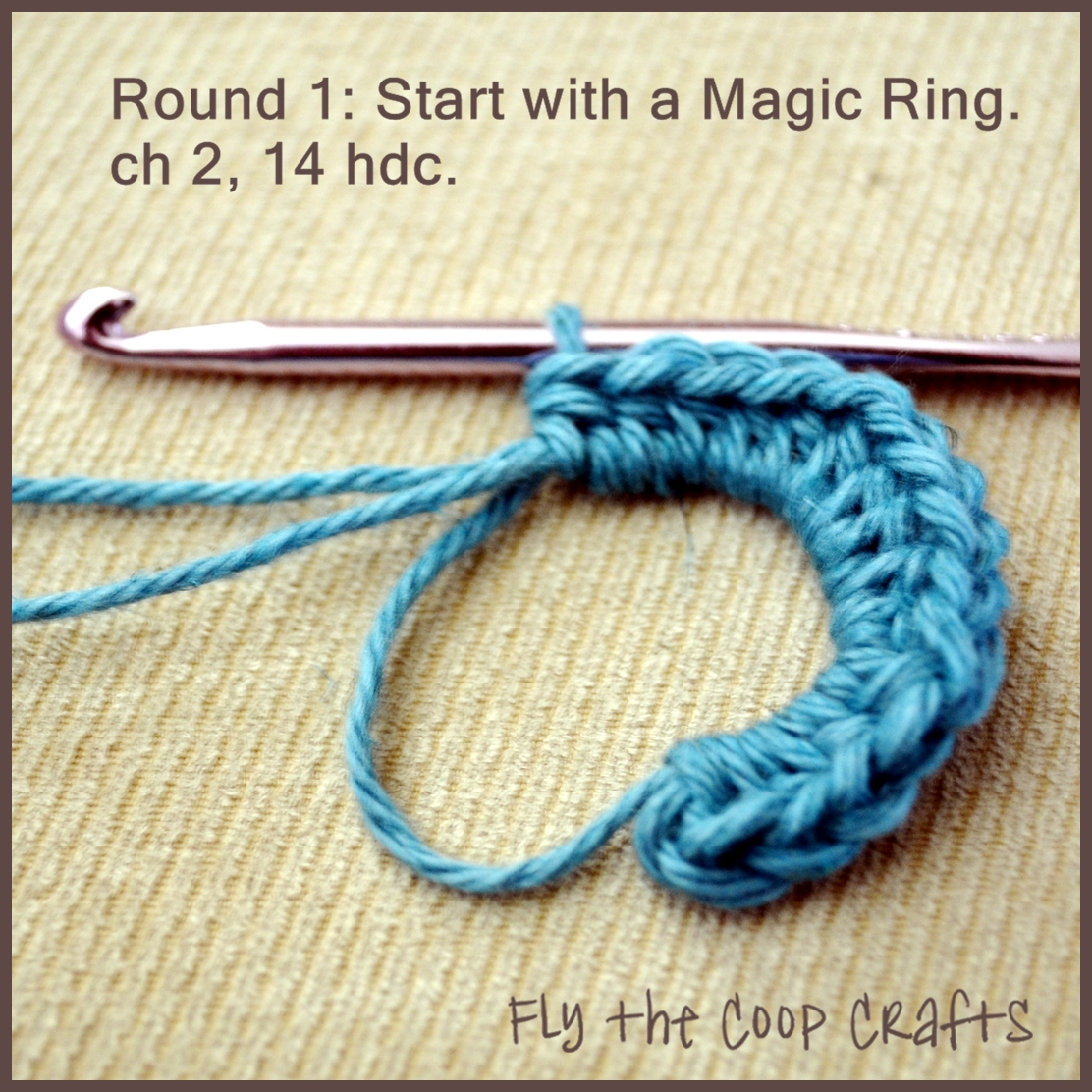 Fly the Coop Crafts: Sweet Sevens - a crochet flower tutorial