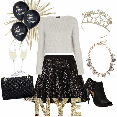 Sequin Skater Skirt