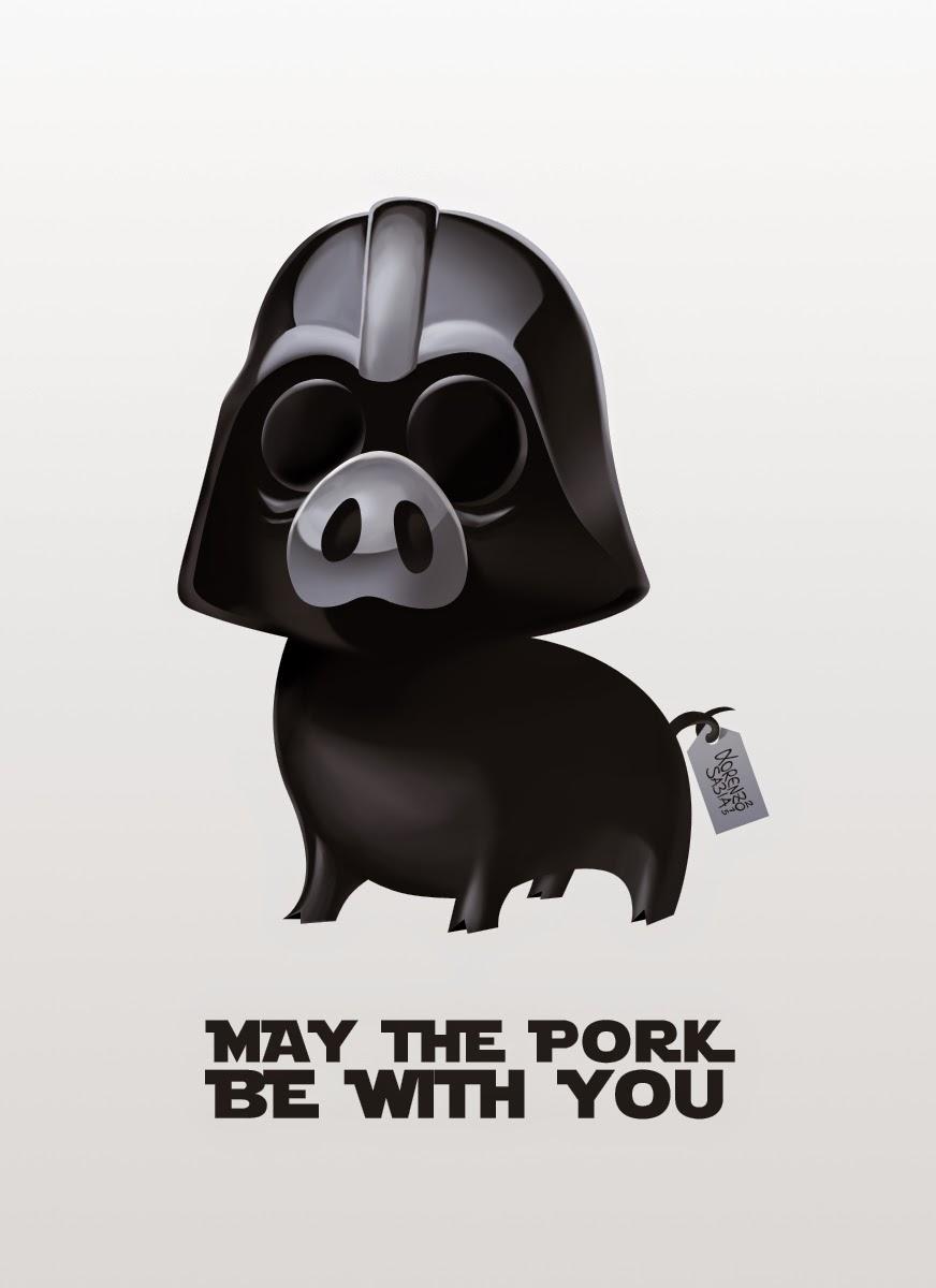 Star Wars Pig Vader by Lorenzo Sabia