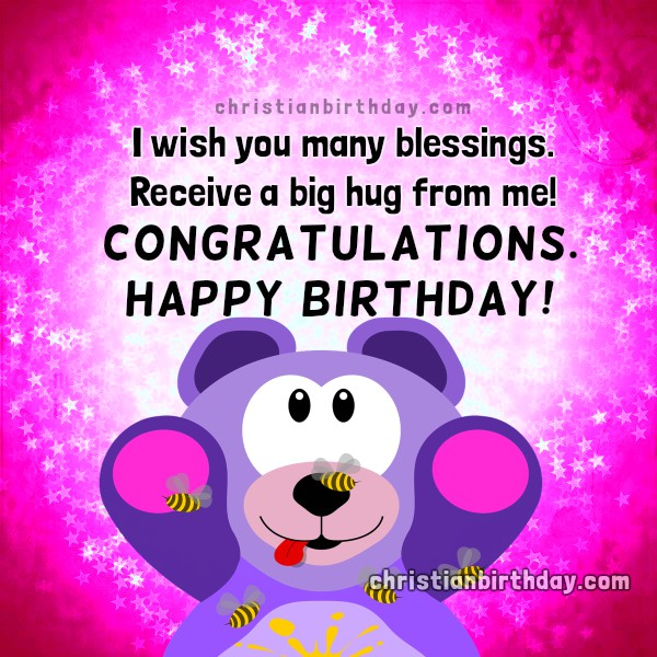 Congratulations Happy Birthday I wish you many Blessings – Happy Birthday Card for Little Girl