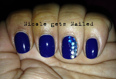 Royal Blue with Rhinestones Accents