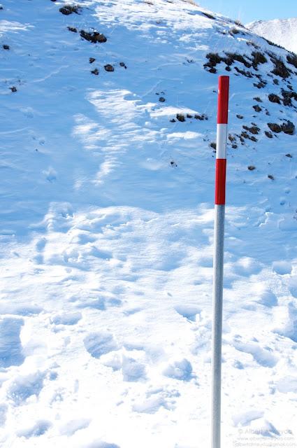 Foto en la nieve expuesta correctamente