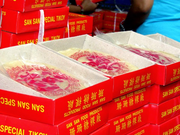 """Tikoys"" are sold all throughout the Chinatown area"