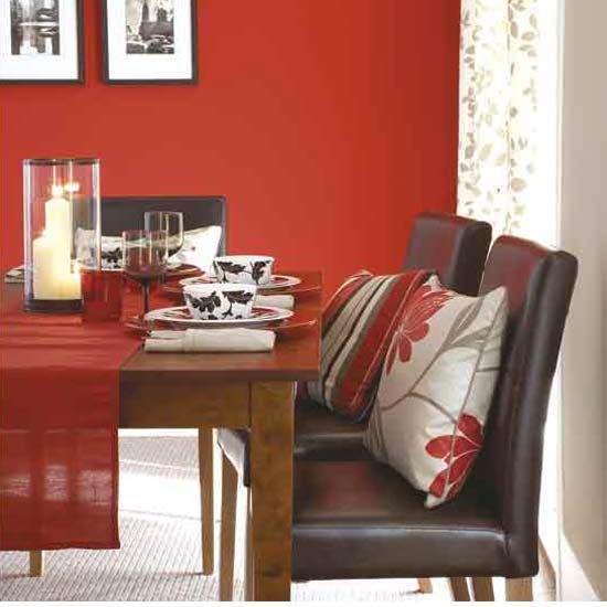 consigli per la casa e l' arredamento: imbiancare casa: colore rosso - Colori Per Soggiorno Moderno 2