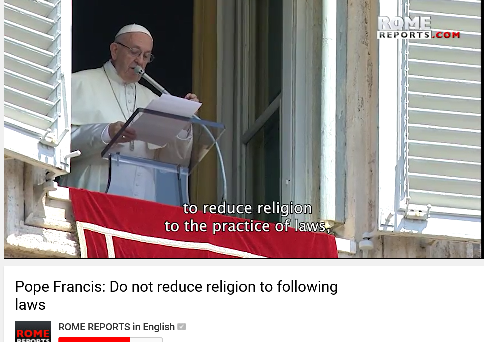 Bergoglio rebels against obedience to the Laws of God