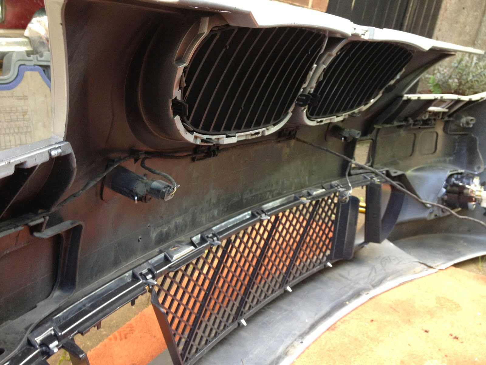 Beemer lab e60 fitting m sport front bumper for Mercedes benz installing parking sensors aftermarket