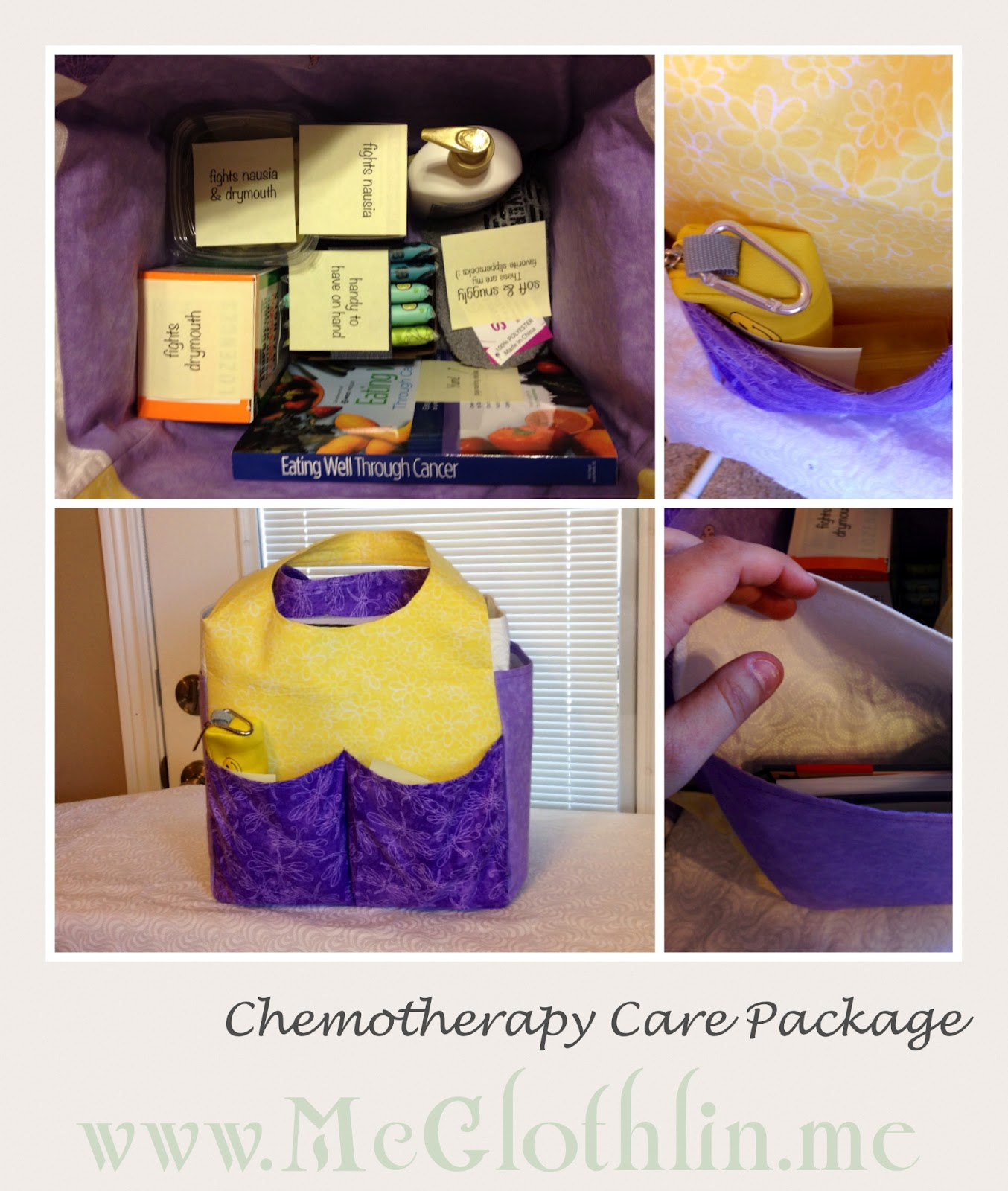 "gathered Care Package item ideas by Googling ""Chemo Care Package ..."