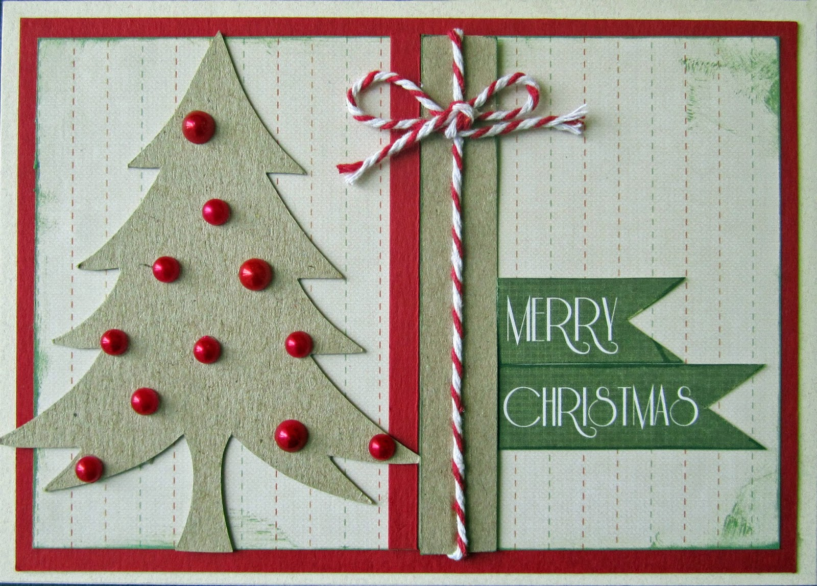 HAND MADE CARDS........ Ideas and Inspiration: EASY MERRY CHRISTMAS CARD