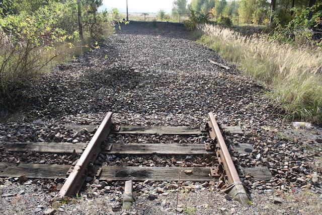 Rails abandonnés - dépôt de train abandonné Berlin