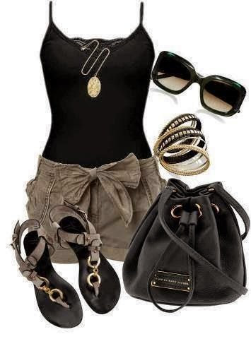 Black Style Combination. Amazing Outfit. Proper Bracelets and other Accessories