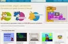 Scratch: permite crear juegos, animaciones e historias interactivas online