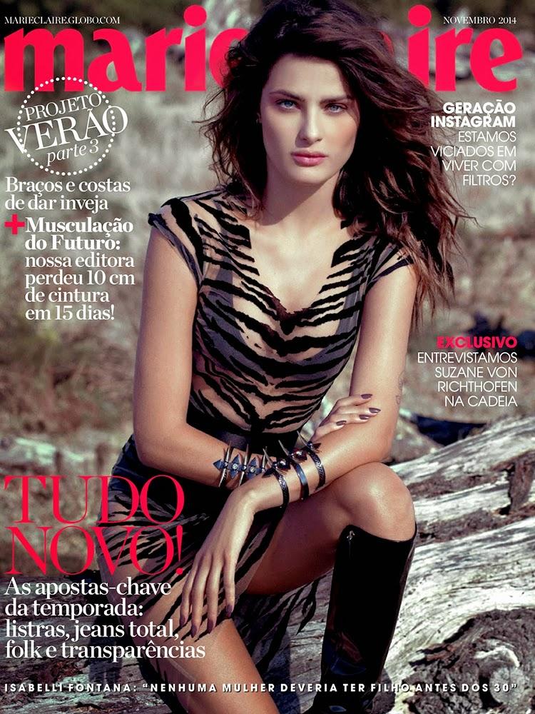 Isabeli Fontana Cover Marie Claire Brazil November 2014 by Eduardo Rezende