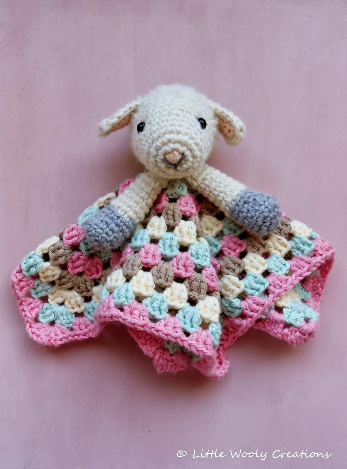 Free Crochet Lamb Cuddle Blanket Pattern : Little Wooly Creations: Lamb Cuddle Blanket