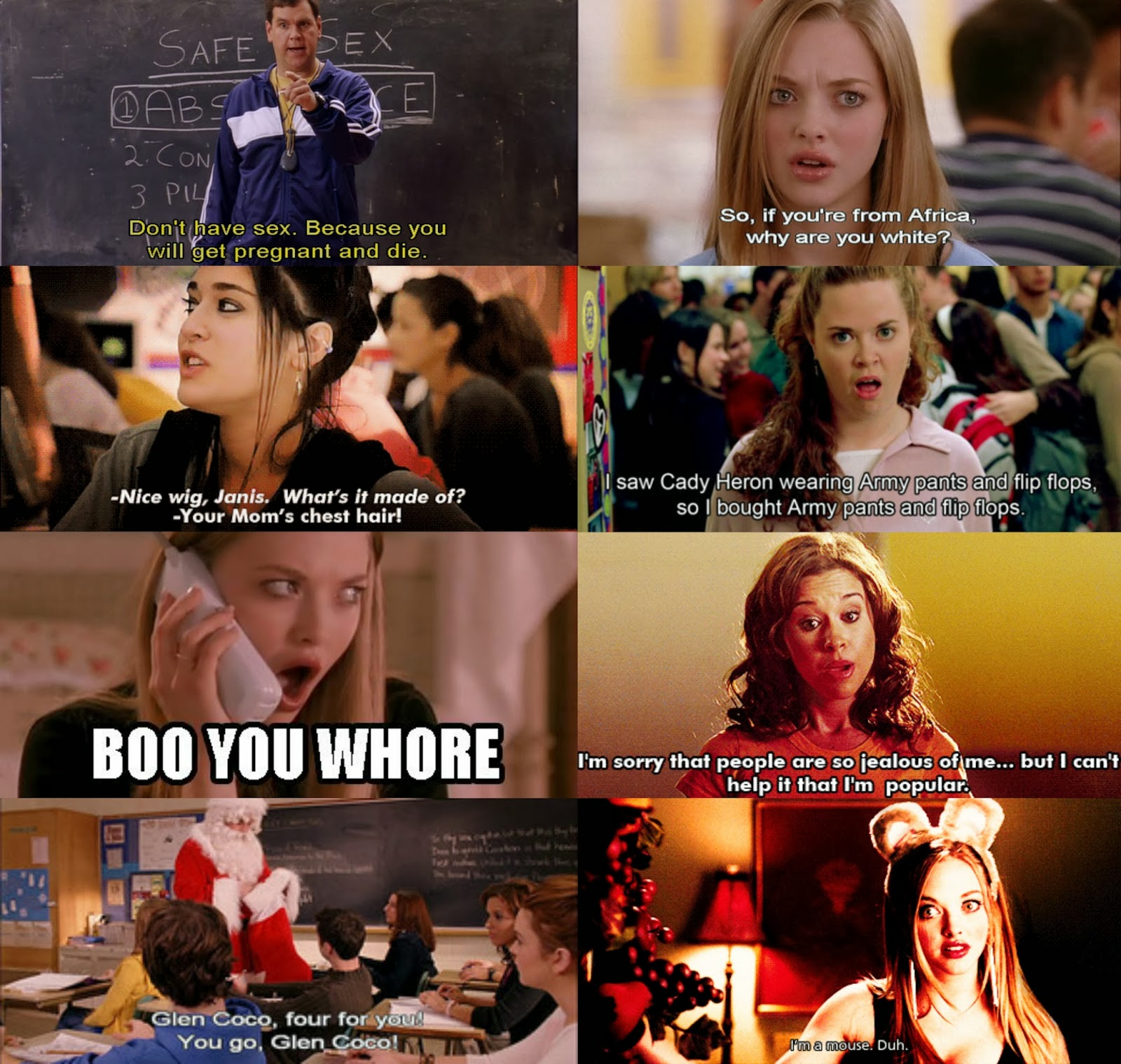 mean girls funny movie quotes quotesgram