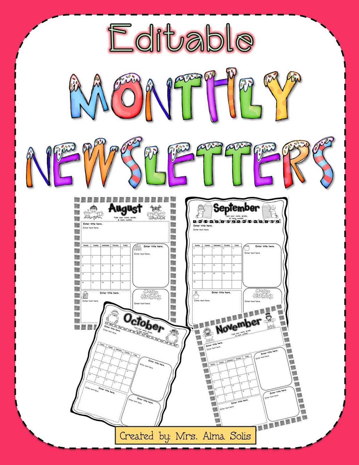 mrs  solis u0026 39 s teaching treasures  monthly newsletters