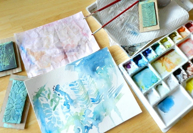 Abstract Watercolor Painting Art