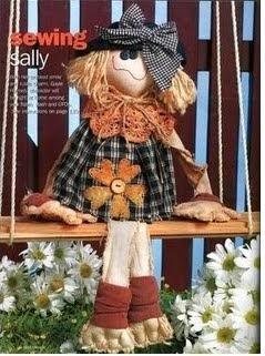 Moldes boneca de pano sentada