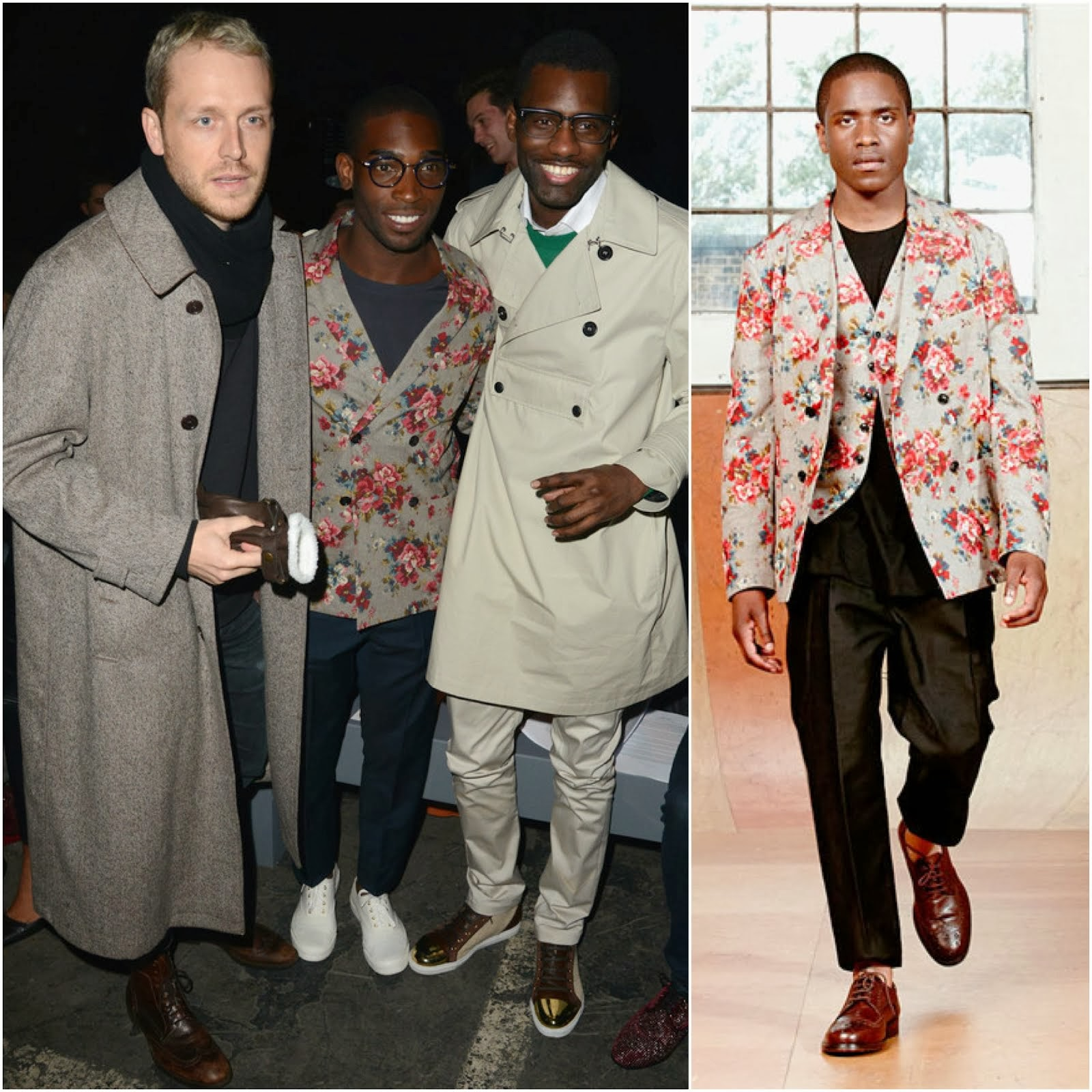 Tinie Tempah in Casely-Hayford - London Collections: Men FW2014 Day 2 #LCM