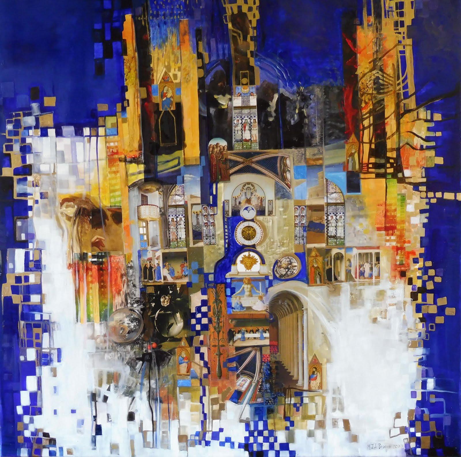 La cathédrale - 80 x 80 cm - 2020
