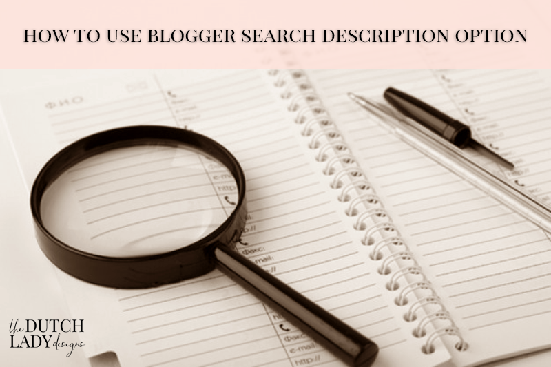 adding a post search description in blogger