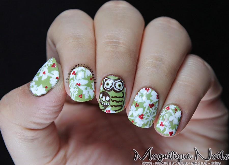 Magically Polished Nail Art Blog Alphabet Nail Art Challenge O