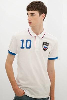 polo bandera Rusia de Zara Mundial Brasil 2014