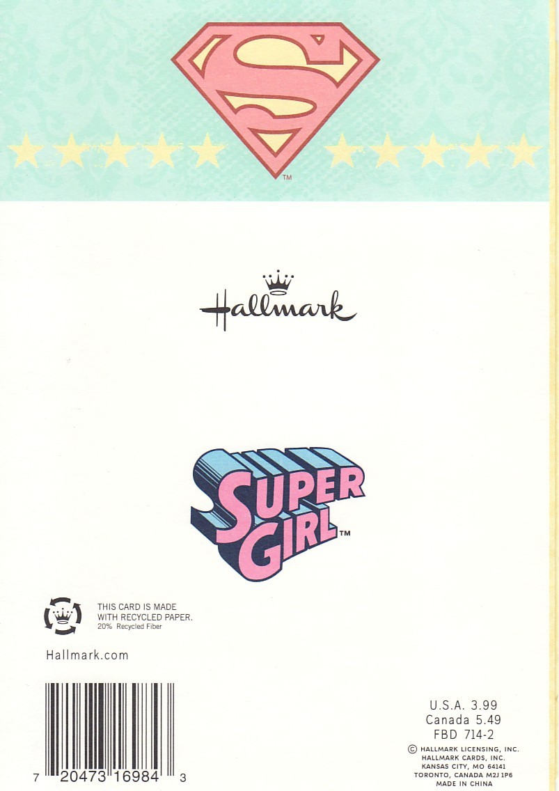 Supergirl comic box commentary supergirl birthday card thursday october 25 2012 bookmarktalkfo Gallery