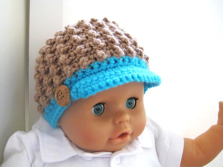Crochet Beanie Pattern Newborn : Crochet Dreamz: Visor Beanie Crochet Pattern for Girls and ...