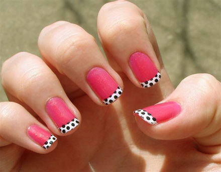 latest french nails design